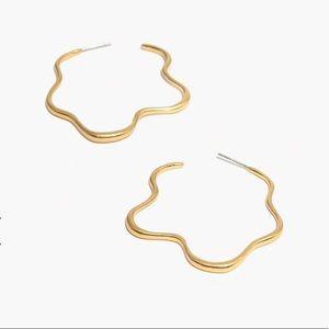 Madewell Wavy Hoop Earrings